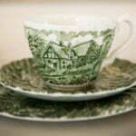 Tea cup decoration detail